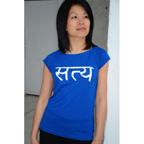 Womens Ahimsa T-shirt - blue  £23
